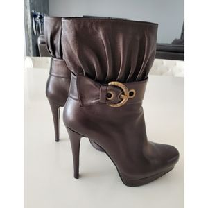 Stuart Weitzman Brown Heeled Ankle Boots 8M